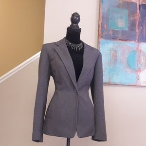 Rafaella/ Grey/ Single Button Front/ Blazer
